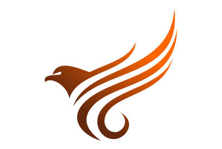 Abstract eagle graphic vector design icon concept logo Illustration