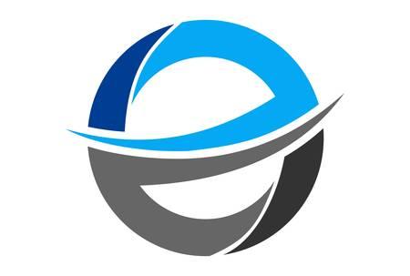 letter E graphic abstract vector design logo icon