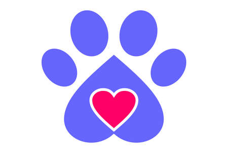love dog graphic vector design logo abstract icon Ilustracja