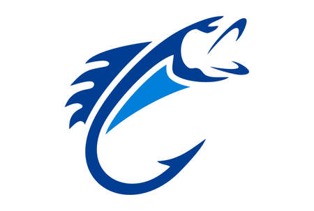 Blue Fish logo vector design