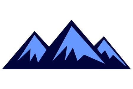 three mountain logo vector