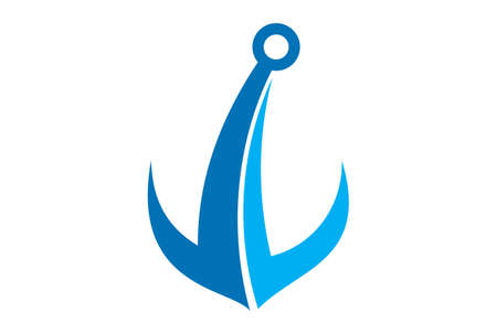 anchor abstract logo blue color design vector Vectores