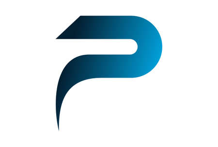 Abstract letter p design icon design.