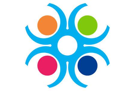 team work logo Stock Illustratie