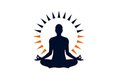 meditation logo yoga icon