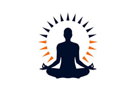 Meditationslogo Yoga-Symbol Logo