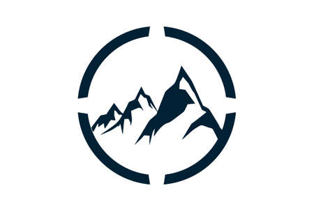 abstract three mountain logo icon vector concept flat design