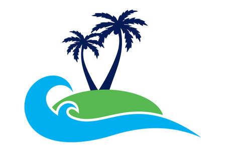 island concept archipelago logo icon vector concept flat design