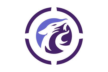 jaguar abstract logo concept icon vector concept flat design 免版税图像 - 117185892