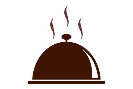 restaurant hot food logo icon vector concept flat design