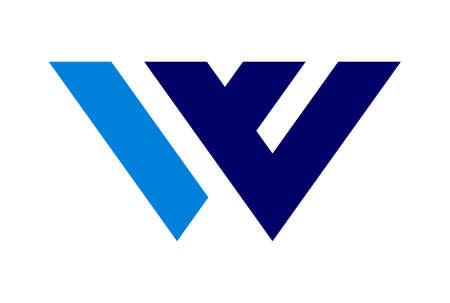 letter w vector concept logo icon vector concept flat design