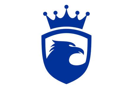king eagle abstract logo icon vector vector concept flat design 矢量图像