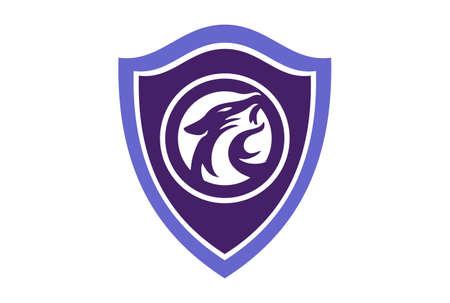 shield jaguar abstract logo icon vector concept flat design 矢量图像