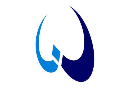 letter w concept logo icon vector concept flat design 免版税图像 - 117187379