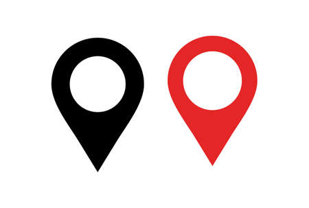 location logo icon vector vector concept flat design 矢量图像