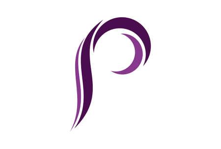 letter p icon vector logo vector concept flat design