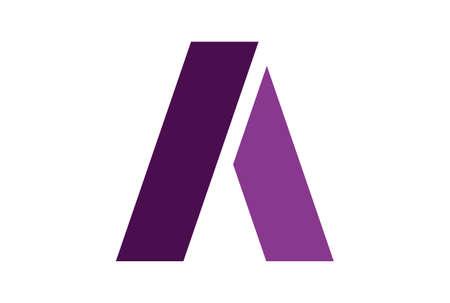 letter A icon vector logo vector concept flat design