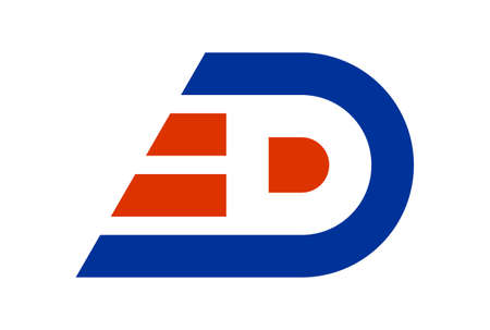 letter D fast express logo icon vector concept flat design