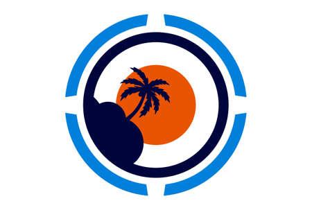 island archipelago concept vector icon logo vector concept flat design 免版税图像 - 117188494