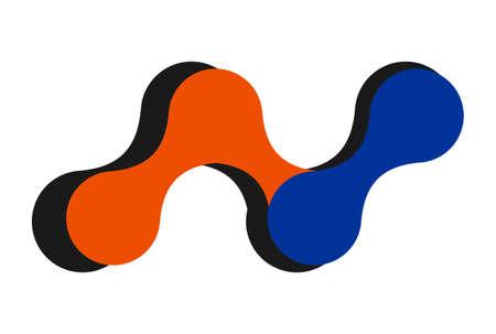 letter N logo concept icon vector concept design
