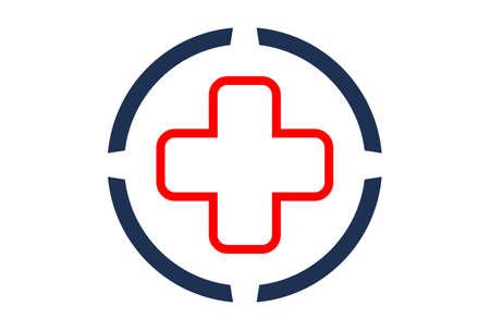 medical logo concept vector logo icon vector concept flat design 矢量图像