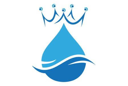 king water abstract concept logo icon vector concept flat design