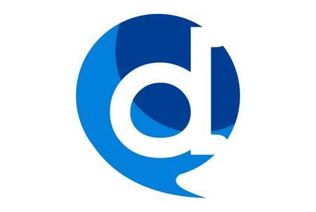 letter d abstract icon logo vector concept flat design 免版税图像 - 117188504