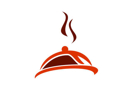 restaurant menu food logo icon vector concept flat design