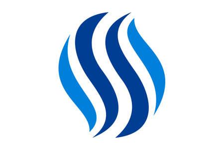 letter s blue fire logo icon vector concept flat design 免版税图像 - 117188515