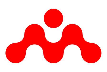 letter m vector concept logo icon vector concept flat design 矢量图像