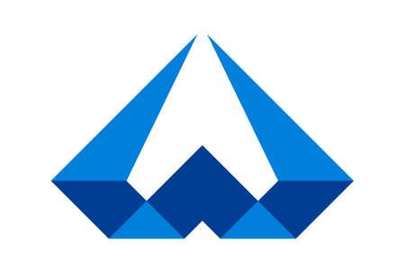 letter w diamond abstract concept logo icon vector concept design 免版税图像 - 117188518
