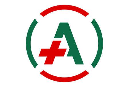 letter A medical vector logo icon vector concept flat design