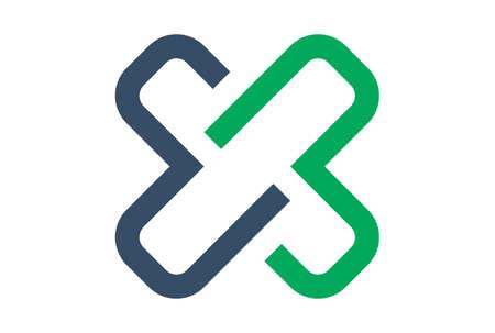 letter x icon logo concept vector concept flat design