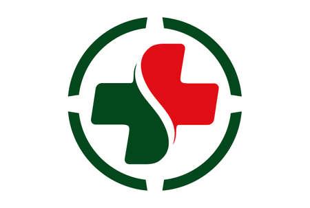 medical logo vector icon concept vector concept flat design 免版税图像 - 117188540