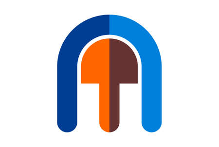 letter m logo icon vector vector concept flat design