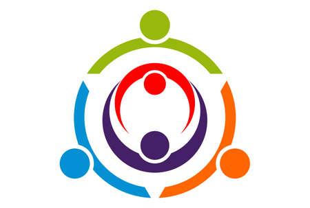 team work logo icon concept vector vector concept flat design