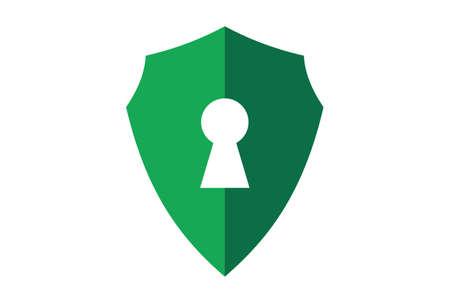 shield lock protection guard logo icon vector concept flat design 矢量图像