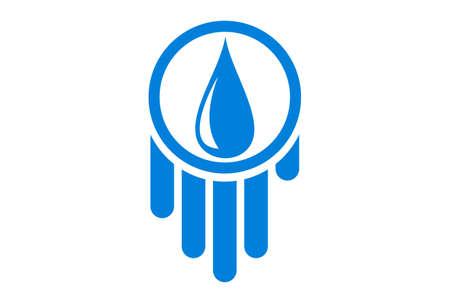 water logo concept vector icon vector concept flat design
