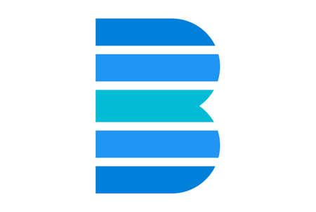 letter B logo concept vector icon vector concept flat design 矢量图像