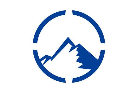 mountain concept abstract logo icon vector concept flat design