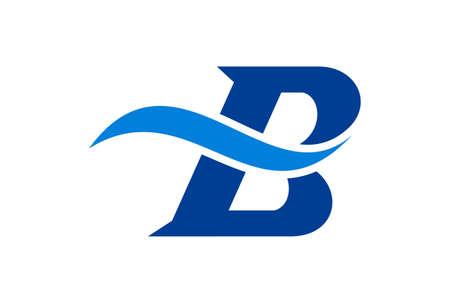 letter B logo icon vector vector concept flat design 矢量图像