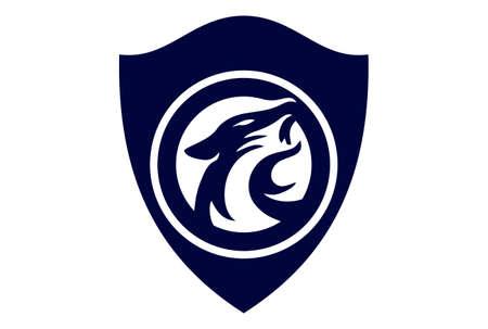 jaguar shield guard power protection concept logo icon