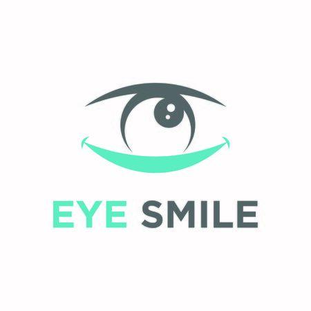 Eye smile logo design modern Logo