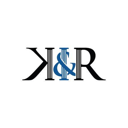 K & R logo design template for law & firm v.2
