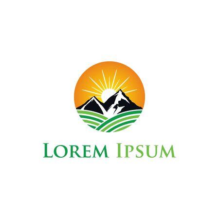 Agriculture logo design template unique