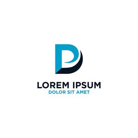 Initial letter DP logo design vector unique modern