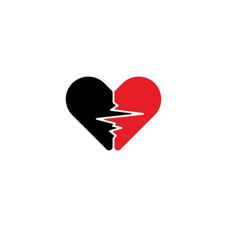 The Symbol Love Design Vectors Template