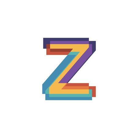 Initials letters Z  design vectors modern colorful
