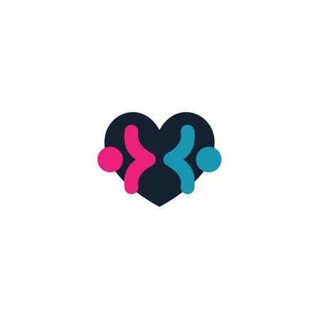 Combination of love and male & female   design vectors V.2