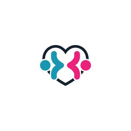 Combination of love and male & female   design vectors
